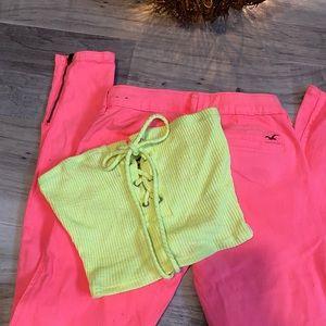 Neon crop top